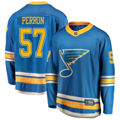 Men's Breakaway St. Louis Blues David Perron Fanatics Branded Alternate Jersey - Blue