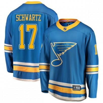 Men's Breakaway St. Louis Blues Jaden Schwartz Fanatics Branded Alternate Jersey - Blue