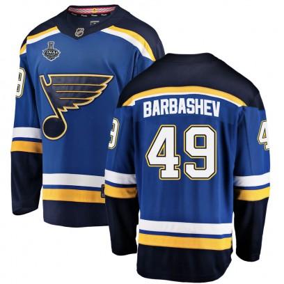 Men's Breakaway St. Louis Blues Ivan Barbashev Fanatics Branded Home 2019 Stanley Cup Final Bound Jersey - Blue
