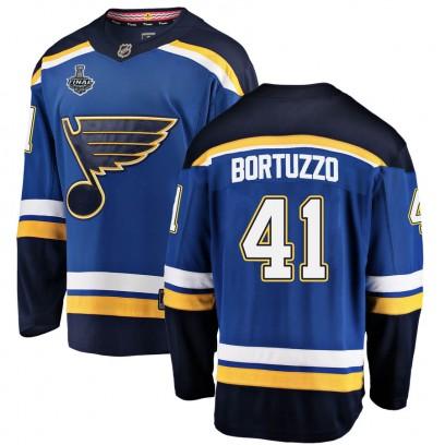 Men's Breakaway St. Louis Blues Robert Bortuzzo Fanatics Branded Home 2019 Stanley Cup Final Bound Jersey - Blue