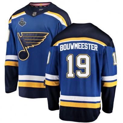 Men's Breakaway St. Louis Blues Jay Bouwmeester Fanatics Branded Home 2019 Stanley Cup Final Bound Jersey - Blue