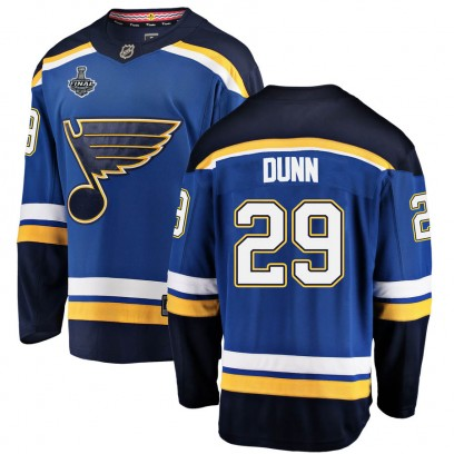 Men's Breakaway St. Louis Blues Vince Dunn Fanatics Branded Home 2019 Stanley Cup Final Bound Jersey - Blue