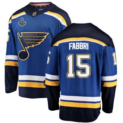 Men's Breakaway St. Louis Blues Robby Fabbri Fanatics Branded Home 2019 Stanley Cup Final Bound Jersey - Blue
