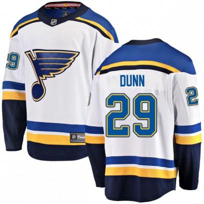 Men's Breakaway St. Louis Blues Vince Dunn Fanatics Branded Away Jersey - White
