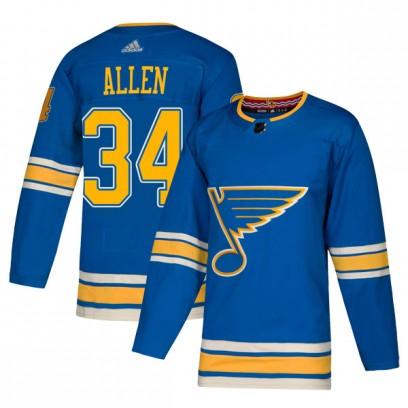 Men's Authentic St. Louis Blues Jake Allen Adidas Alternate Jersey - Blue