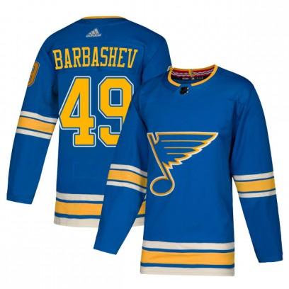 Men's Authentic St. Louis Blues Ivan Barbashev Adidas Alternate Jersey - Blue