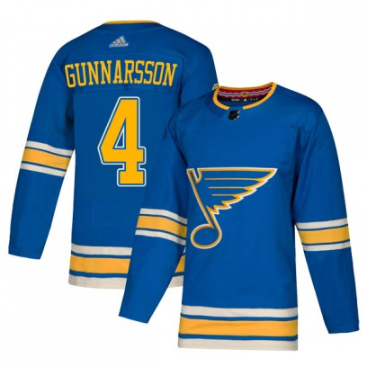Men's Authentic St. Louis Blues Carl Gunnarsson Adidas Alternate Jersey - Blue