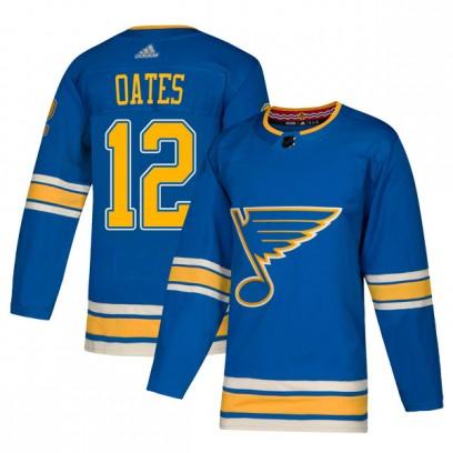 Men's Authentic St. Louis Blues Adam Oates Adidas Alternate Jersey - Blue