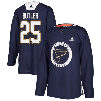 Youth Authentic St. Louis Blues Chris Butler Adidas Practice Jersey - Blue
