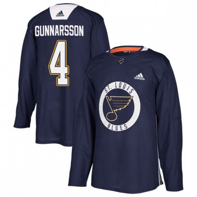 Youth Authentic St. Louis Blues Carl Gunnarsson Adidas Practice Jersey - Blue