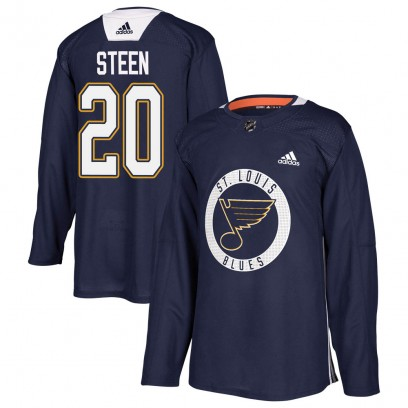 Youth Authentic St. Louis Blues Alexander Steen Adidas Practice Jersey - Blue