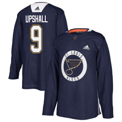 Youth Authentic St. Louis Blues Scottie Upshall Adidas Practice Jersey - Blue