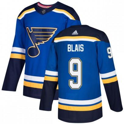 Men's Authentic St. Louis Blues Sammy Blais Adidas Home Jersey - Blue