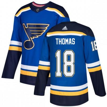 Men's Authentic St. Louis Blues Robert Thomas Adidas Home Jersey - Blue