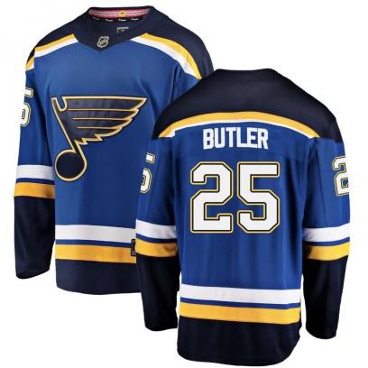 Men's Breakaway St. Louis Blues Chris Butler Fanatics Branded Home Jersey - Blue