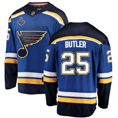Youth Breakaway St. Louis Blues Chris Butler Fanatics Branded Home 2019 Stanley Cup Final Bound Jersey - Blue