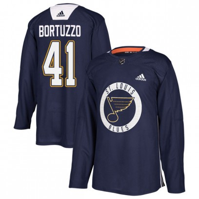 Men's Authentic St. Louis Blues Robert Bortuzzo Adidas Practice Jersey - Blue