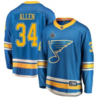 Youth Breakaway St. Louis Blues Jake Allen Fanatics Branded Alternate 2019 Stanley Cup Final Bound Jersey - Blue