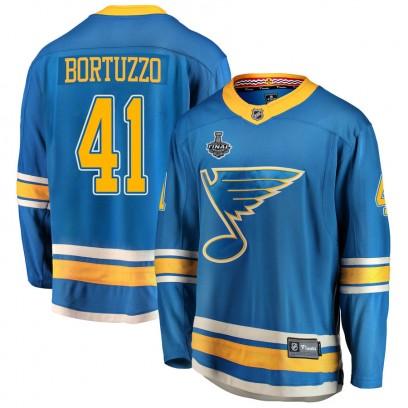 Youth Breakaway St. Louis Blues Robert Bortuzzo Fanatics Branded Alternate 2019 Stanley Cup Final Bound Jersey - Blue
