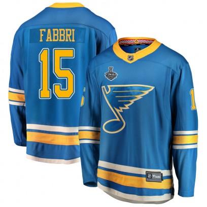 Youth Breakaway St. Louis Blues Robby Fabbri Fanatics Branded Alternate 2019 Stanley Cup Final Bound Jersey - Blue