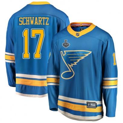 Youth Breakaway St. Louis Blues Jaden Schwartz Fanatics Branded Alternate 2019 Stanley Cup Final Bound Jersey - Blue