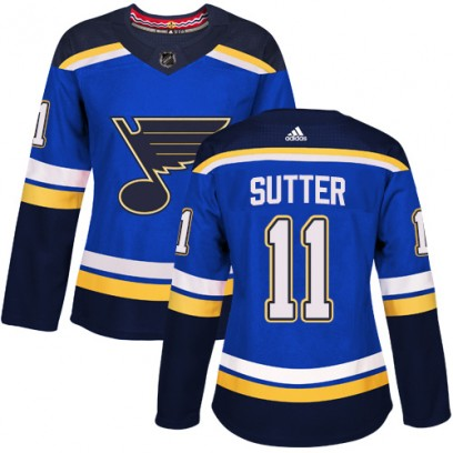Women's Authentic St. Louis Blues Brian Sutter Adidas Home Jersey - Royal Blue