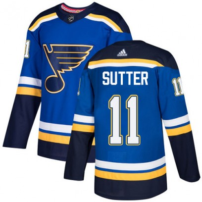 Youth Authentic St. Louis Blues Brian Sutter Adidas Home Jersey - Royal Blue