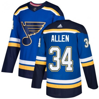 Youth Authentic St. Louis Blues Jake Allen Adidas Home Jersey - Royal Blue