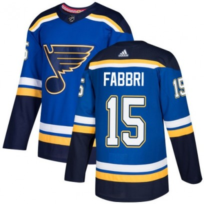 Youth Authentic St. Louis Blues Robby Fabbri Adidas Home Jersey - Royal Blue