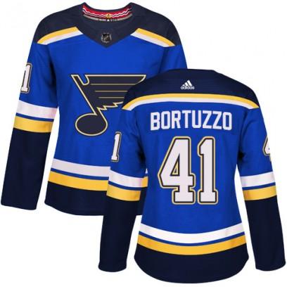 Women's Authentic St. Louis Blues Robert Bortuzzo Adidas Home Jersey - Royal Blue