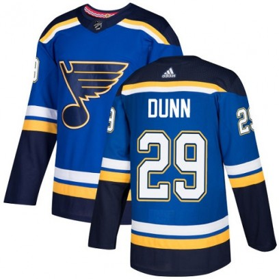 Youth Authentic St. Louis Blues Vince Dunn Adidas Home Jersey - Royal Blue